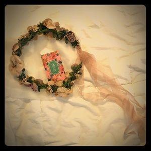 NWT Meiliy Gorgeous Flower Crown Bridal Boho